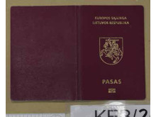 Cover of Lithuanian passport recovered during the operation.
