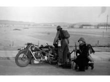 Maskinkanongruppe fra fodfolkspionerernes afværgekompagni i stilling 9. april 1940