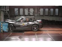BMW Z4 frontal offset impact 2019