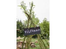 Piltunnel vid projekt Bygglek på Rosendals Trädgård