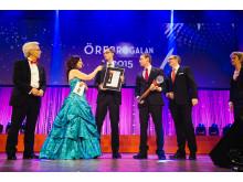 SiteVision tar emot Årets Näringslivspris på Örebrogalan
