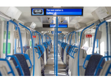 Interior of new Moorgate train2 25.03.19