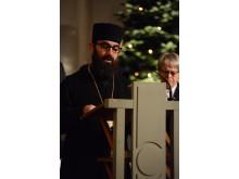 Arkimandit Jean Mansour ledde i bön.
