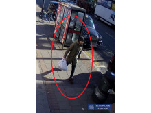 CCTV showing Ali in Bethnal Green Road