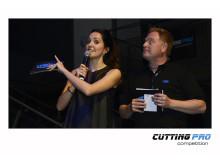TYROLIT Cutting Pro Competition presentatörer Martin Zimmerman och Johanna Klum