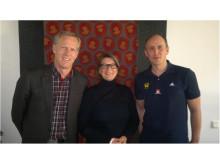 Urban Johnson, Ulrika Tranæus och Andreas Ivarsson.