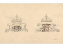 Byggekunst. Henrik Bull, Ny teaterbygning i  Kristiania, Nationaltheateret, 1890