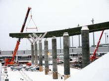 Limtredrager ny terminal Oslo Lufthavn