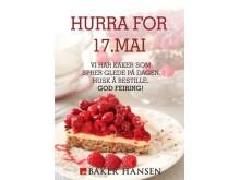 Husk å bestille kake til 17.mai