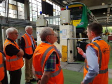 Stakeholders on a tour of Tyseley Depot