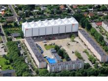 Väderskydd på projekt i Danmark. Bild: Sitecover A/S