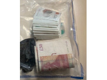 Cash seized during raids - Op Linstock