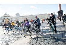 Cykeltur gennem Skt. Petersborg ifm. 10. St. Petersborg International Innovation Forum i 2016