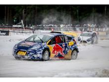 Amerikansk supertalang vann RallyX On Ice-premiären