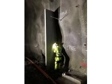 Foamrox brannsperre i tunnel