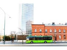 Elbuss utanför Malmö C