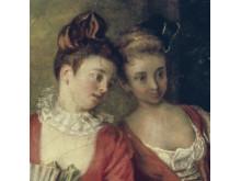 Antoine Watteau, La Partie Quarrée (detail)
