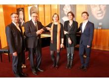 v.l.: Torsten Rose, Prof. Ulf Schirmer, Dr. Skadi Jennicke, Franziska Severin und Mario Schröder präsentierten das Jubiläumsprogramm