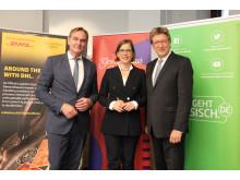 Freuen sich auf die Leipzig Week in Boston: Leipzigs Oberbürgermeister Burkhard Jung, Kulturbürgermeisterin Skadi Jennicke und Gewandhausdirektor Prof. Andreas Schulz