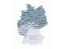 Vertriebsgebiet Swecon Baumaschinen GmbH