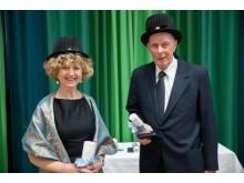 Bild på de två hedersdoktorer som utsågs av GIH den 4 maj i samband med den akademiska högtiden.