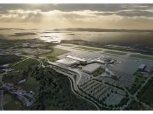 Ny terminal på Bergen lufthavn, Flesland i 2017