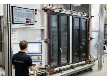 Testing i Schüco's teknologisenter