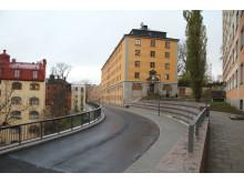 Hälsobrunnsgatan, ny vägsträckning i Sabbatsbergsområdet. (Foto: Johan Åhström.)