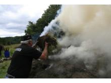 Tilførslen af ilt til milen reguleres med græstørv