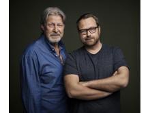 Rolf Lassgård och regissören Jens Jonsson