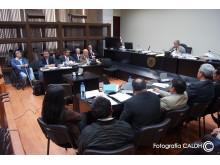 Domstolsförhandlingar mot Guatemalas ex-diktator Efraín Rios Montt