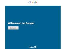 LinkedIn Check-In: Willkommens-Bildschirm