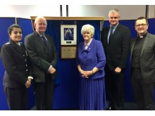 Matthews family with Borough Commander and Chaplain
