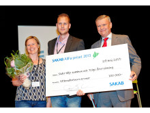 Prisutdelning av Sakab AllFa-priset 2013