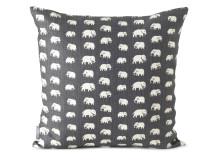 Estrid Ericsons textil Elefant finns nu i grå färgställning på Svenskt Tenn