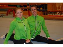 Måns Stenberg och Veronica Wagner gläds åt Stadium som landslagssponsor