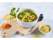 Stadig flere ønsker seg en kjøttfri middag i uken. Hva med en kjempegod og mettende linsesuppe?