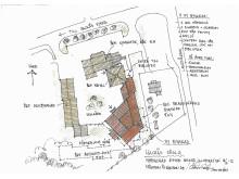 Skiss nybyggnation vid Hackås skola klart till vårterminen 2014