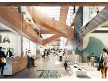 Stadsdelshus med rum för kultur  Selma stad, interiör