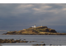 Fidra Island from Yellocraig Beach near North Berwick, East Lothian.
