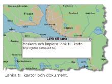 Länka till kartor och dokument (GS Viewer)