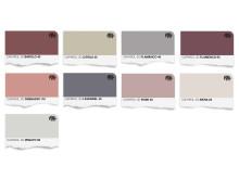 Trend 15 Färgkarta för väggfärg (pastlar för creative mood)