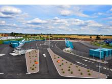 Upphöjd plattform på återvinningscentralen i Ängelholm