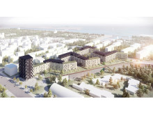Skanska Copenhagen residential aerial view