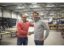 Robert Magnusson, CEO - Aston Harald Sport. Joakim Berne, CEO - Sail Racing International.