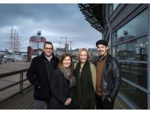 Henning Ruhe, konstnärlig chef Opera/drama GöteborgsOperan, Christina Björklund, vd, Simon Ljungman och Victoria Brattström.