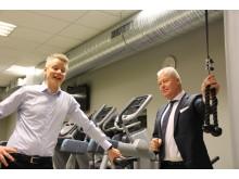 Sondre Gravir og Helge Leiro Baastad_treningsrom