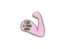 Yoga Girl I am a Yoga Girl pink fist pin