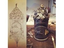 Kelly Colbell Heyl skapar detaljer till ett skogsrå i Cosplay <3 folktroväsen.