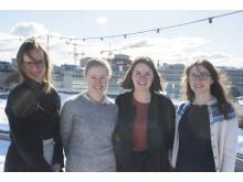 Nye i redaksjonen: f.v. Hvamstad, Malmin, Betenzo, Kvalsund